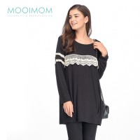 MOOIMOM Long Sleeves Maternity & Nursing Dress Baju Hamil Menyusui