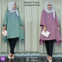 Jual Termurah 56231 sekar tunic/baju tunik murah/baju muslim wanita murah/b Murah