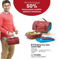 Jual Tupperware Bring Your Own Lunch Set Bekal Makan BYO B.Y.O Murah