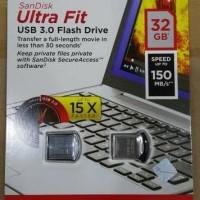 Jual SANDISK USB FLASH ULTRA FIT 32GB CZ43 USB 3.0 UP TO 150MBPS ORIGINAL Murah