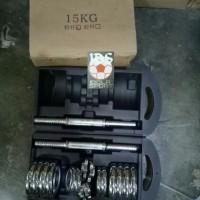 Jual Barbel besi / Dumbel / Dumble Chrome Set 15kg MURAH Murah