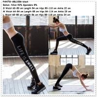 Jual Celana Legging Yoga Gym Sport Senam Fitness Wanita Import Black Pants Murah