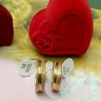 Cincin Kawin Unik Emas Gold Ring Couple Titanium Sepasang Mewah Murah
