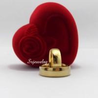 Cincin Tunangan Kawin Emas Gold Ring Couple Titanium Sepasang Polos