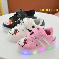Jual Sepatu Anak Import Hello Kitty dengan lampu LED Murah