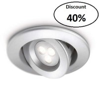 Philips Ledino Recessed Spot Light 69096 40K Aluminium LED