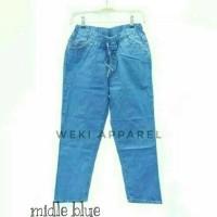 Jual Rubber Boyfriend Jeans / Baggy Boyfriend Jeans Wanita Murah