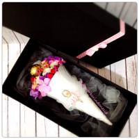 Jual Balerina Flower cone with Ferrero rocher/buket bunga/bride gift/bunga Murah