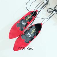 Jual Sepatu Wanita / Cewek Khusus Grosir Pp01 Tali Flatshoes Balerina Balle Murah