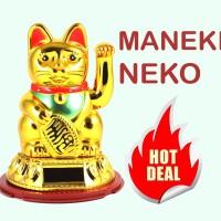 Jual Maneki Neko - Kucing Hoki Keberuntungan Solar Powered Lucky Cat Murah