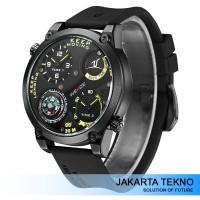 Jual Jam Tangan Pria Weide Series Dual Time Zone UV1505 Black/Yellow Murah
