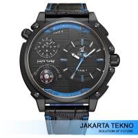 Jual Jam Tangan Pria Weide Universe Series Dual Time Zone UV1507 Black/Blue Murah