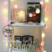 Jual Lampu hias White Pink Rose Light Murah