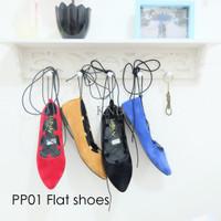 Jual Sepatu Wanita / Cewek Pp01 Tali Flatshoes Balerina Ballerina KND Murah