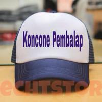 Topi Trucker Custom Jaring - Koncone Pembalap- Topi Jawa- Wong Jowo