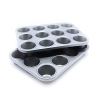 Jual COOK'S HABIT MUFFIN PAN 12 CUP LOYANG KUE 2SET / NEW PROMO - ACS-00032 Murah