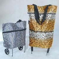 Jual gold/silver trolley bag shopping tas roda lipat foldabl Limited Murah