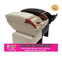 Armrest Box Universal Ultimate 7 USB Led Double Storage
