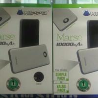 Jual Hippo PowerBank Marse 10000mAh Dual Output Simple Pack Murah