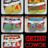 Jual Skidders Laki/Sepatu Bayi Cowok Kaos Kaki Karet/Baby Prewalker Shoes Murah