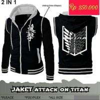 Jual Jaket Anime Murah Attack On Titan 2in1 Black Murah
