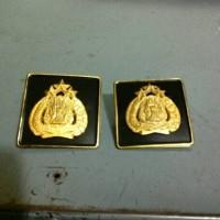 plat peneng logo polisi untuk di plat nomor mobil/motor uk kecil