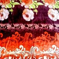 Jual Selimut Bulu Import Kembang ROSE API 180x200, -+900gram Murah