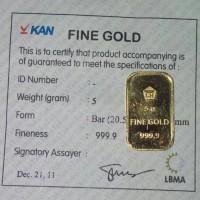Jual antam emas gold 5gr 5gram 5 gram gr Murah