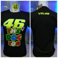 kaos oblong vr 46 font Valentino rossi the doctor moto gp