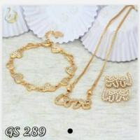 Jual ( GS 289 ) Set Perhiasan / Xuping asli / Lapis emas Murah