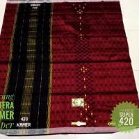 sarung sutra asli samarinda KAMER SUPER 420 EDISI RED SONGKET