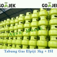 Tabung gas elpiji + ISI 3kg melon LPG selang kompor
