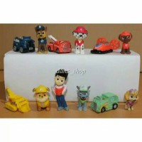 Jual FIGURE PAW PATROL 1SET ISI 12PC//CAKE TOPPER Murah