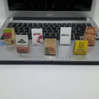 magnet/tempelan kulkas bag kfc, Wendy's, Starbucks, burger king, dll
