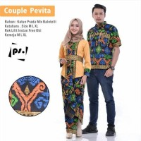 Jual restok !! sarimbit gamis batik couple Pevita Murah
