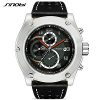 Jam Tangan SINOBI Chronograph Wacth Mens Sports Watches Waterproof