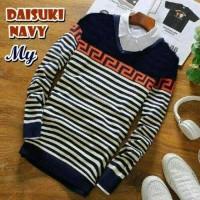 Sweater_Rajut_Pria_DAISUKI_NAVY Harga  Daisuki Termurah Februari 2019