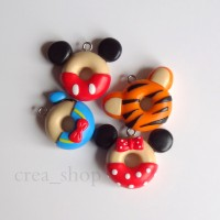 Jual Disney Donuts Charms - Handmade Fimo Polymer Clay Charms Murah