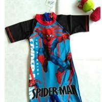 Jual L3055 swimsuit spiderman  baju renang anak KODE PL3055 Murah