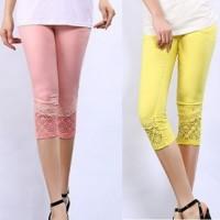 Jual Celana Pants Wanita Import High Quality Lycra Lace dihiasi Mote 549 Murah