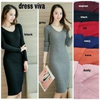 [Dress viva RO] dress wanita rajut var color