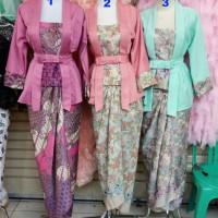 fashion wanita stelan kebaya modren 3pilihan warna