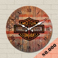 Jam Dinding Vintage Harley Davidson