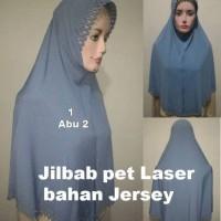 Jual Jual Jilbab instant pet cutting laser Jersey polos Grosir High Quality Murah