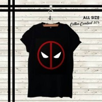 Jual kaoa oblong Deadpool logo dead pool Murah