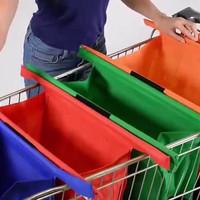 Jual Trolly Shopping Bag Tas Belanja Lipat 1 set isi 4 Trolley Bag Praktis Murah