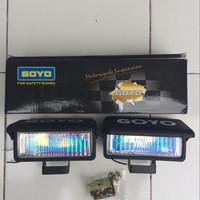 Jual [VARIASI MOTOR] lampu halogen driving prostreet 1 set isi 2 Murah
