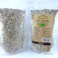 Jual Mix 4 Grains Trio Natural 450 Gr/ Makanan Diet/ Sereal Sarapan Sehat Murah