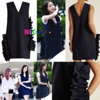 Jual GIRLS GENERATION Yoona Ruffled Crepe navy dress Murah