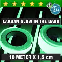 Jual Murah ! Glow In The Dark Tape 1.5cm x 10m / Lakban Nyala Dalam Gelap Murah